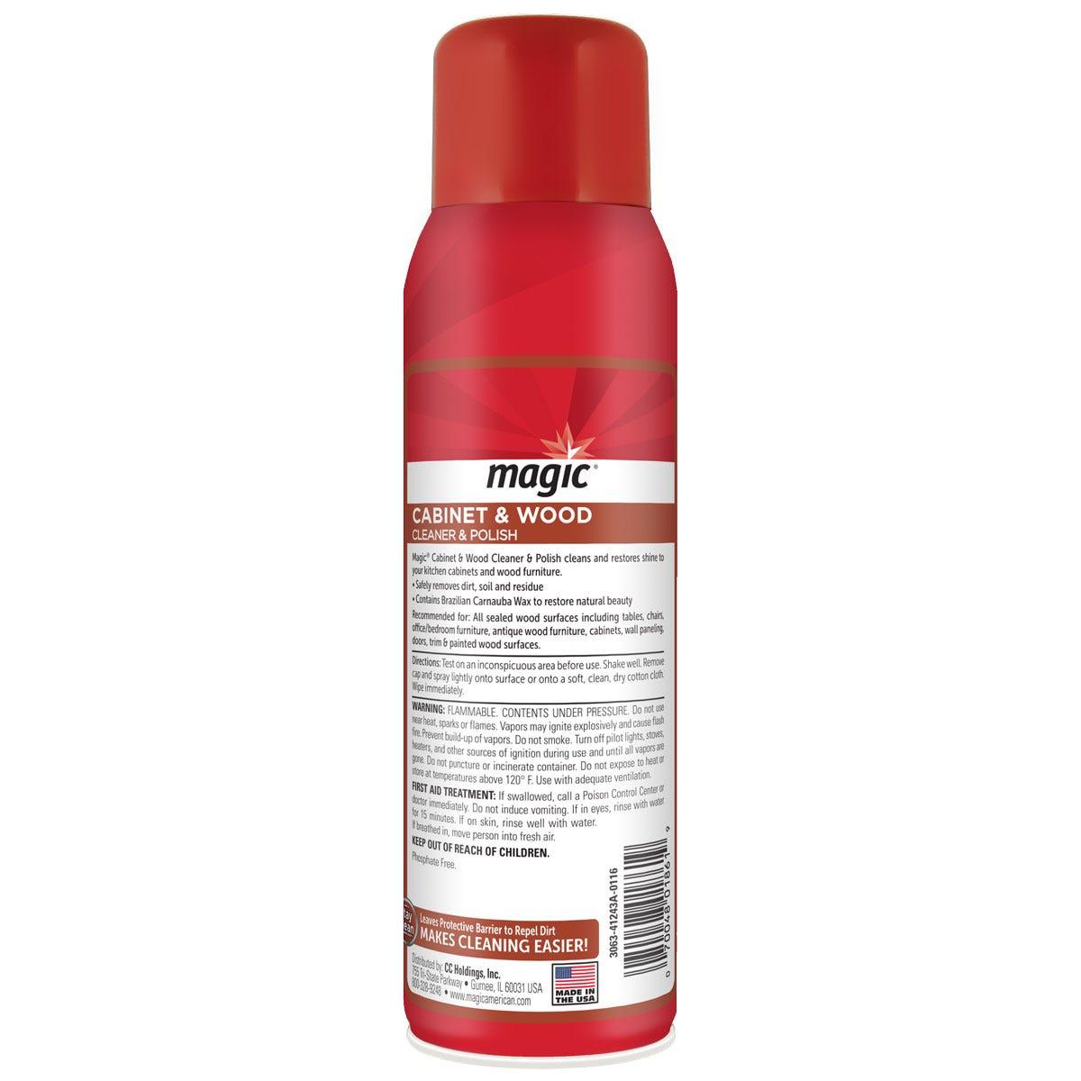 Magic Cabinet Cleaner back label