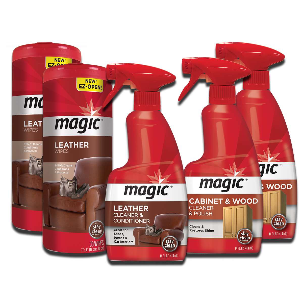 Magic furniture cleaning kit