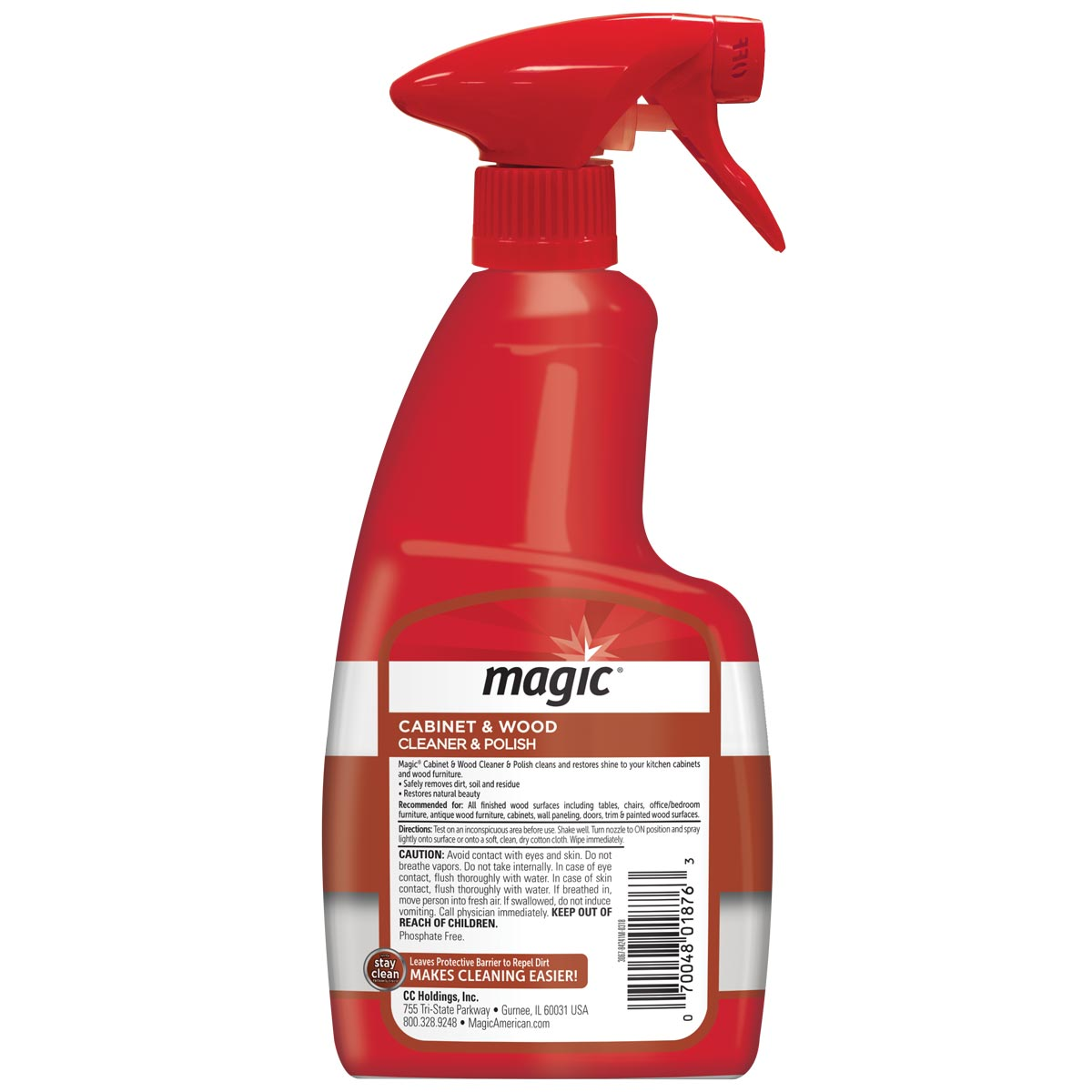 Attirant ... Magic Cabinet U0026 Wood Cleaner Back Label ...