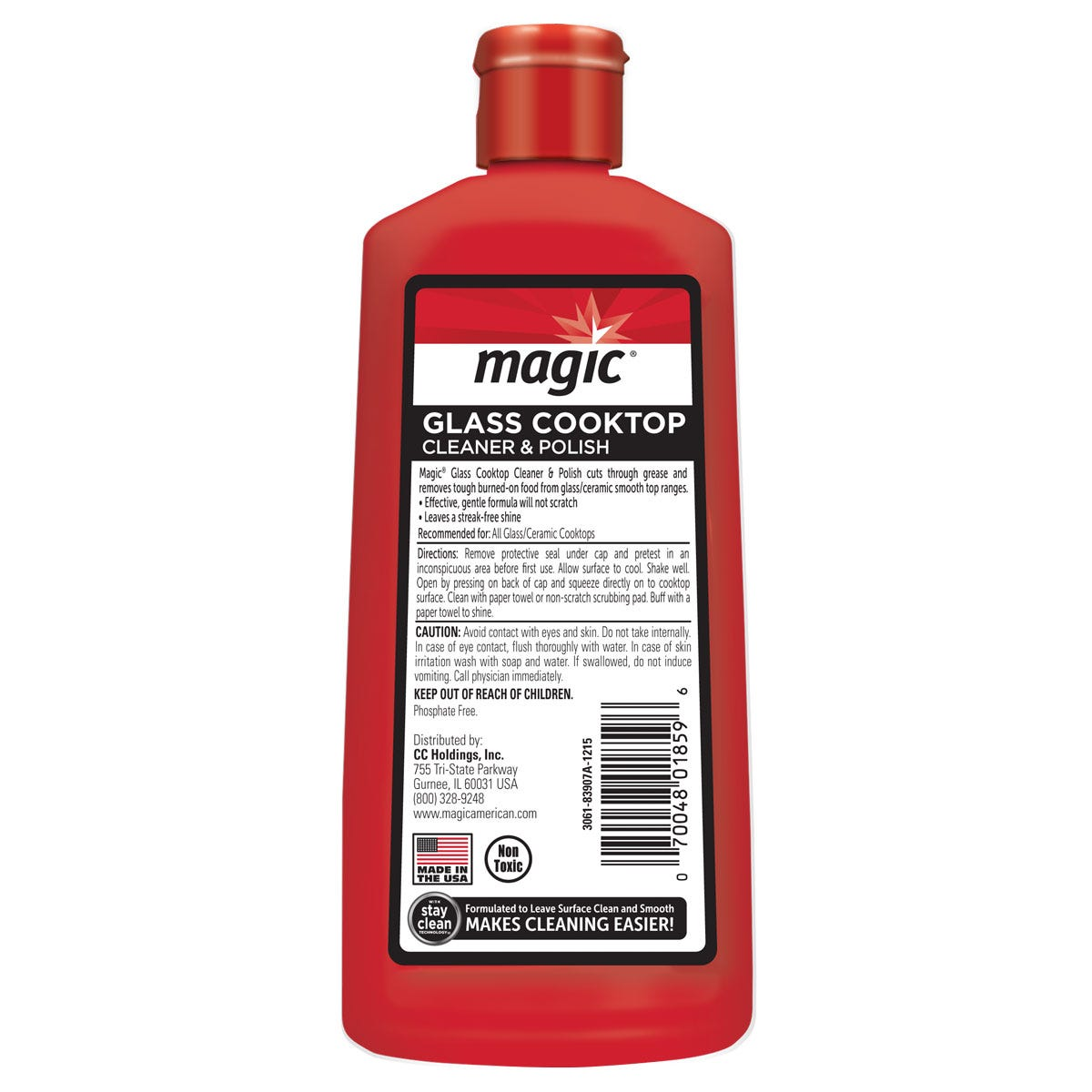 Magic Glass Cooktop Cleaner Back Label