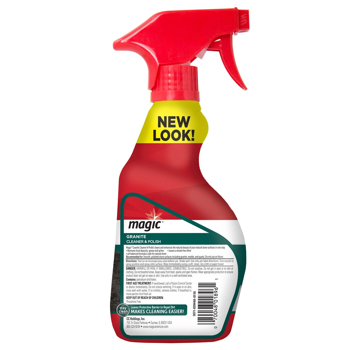 Magic Granite Cleaner Spray back label