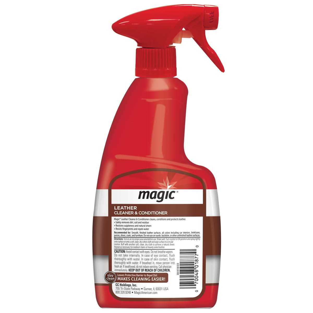 Magic Leather Cleaner back label