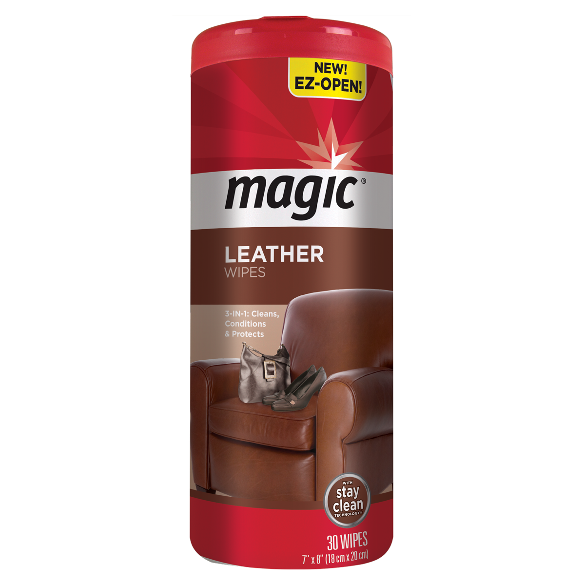 Magic leather wipes