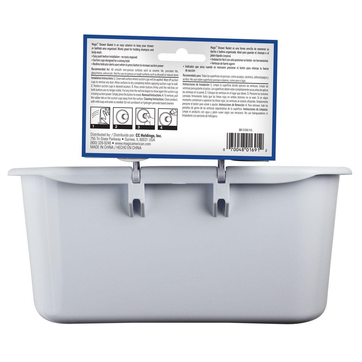 Shower Basket Back Label