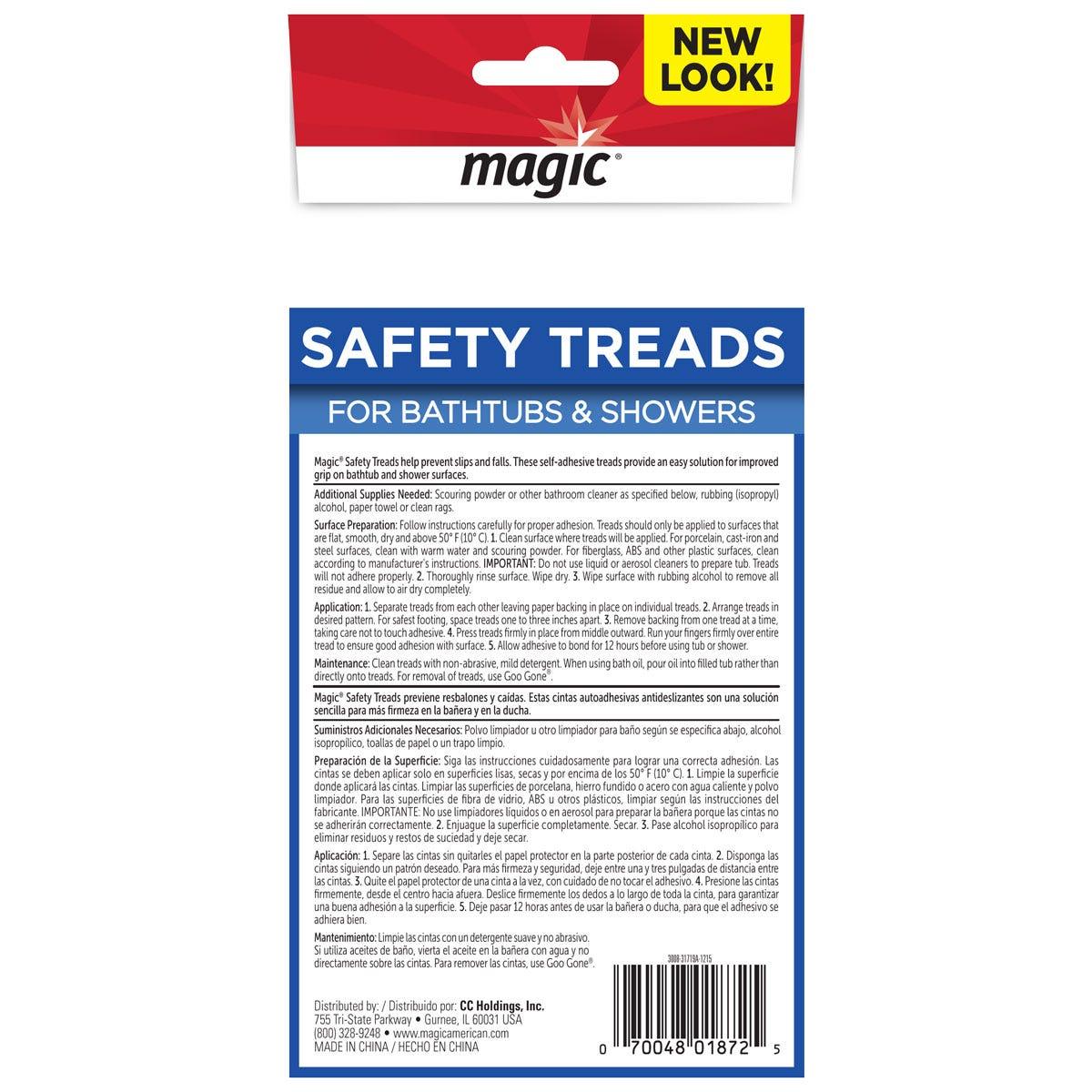 Shower & Tub Safety Treads Back Label