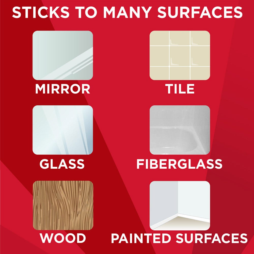 Use on mirrors, tile, fiberglass and more