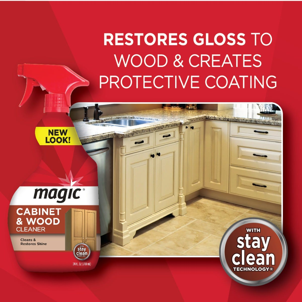 ... Restore gloss to wood furniture & cabinets ...