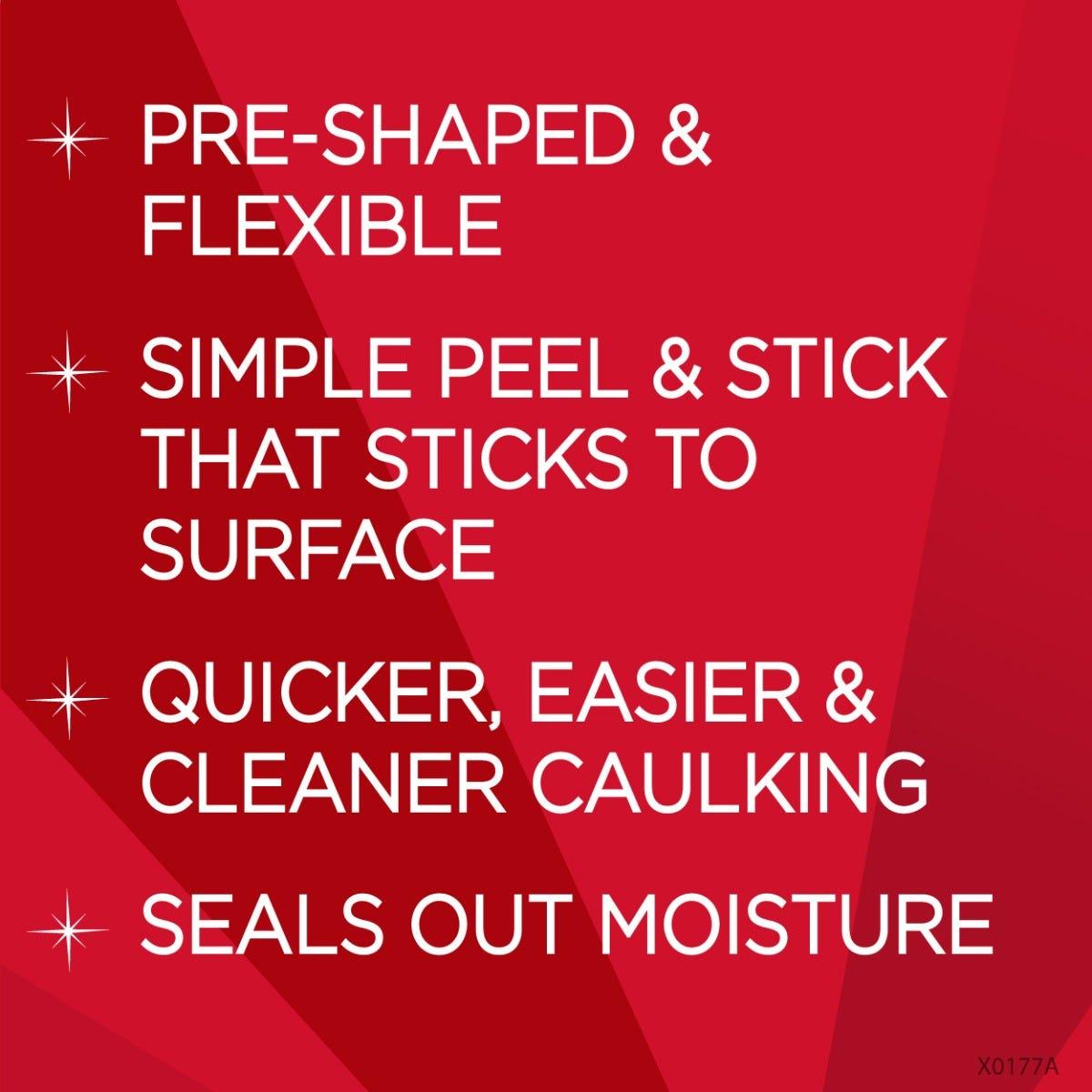 Peel and stick caulk benefits