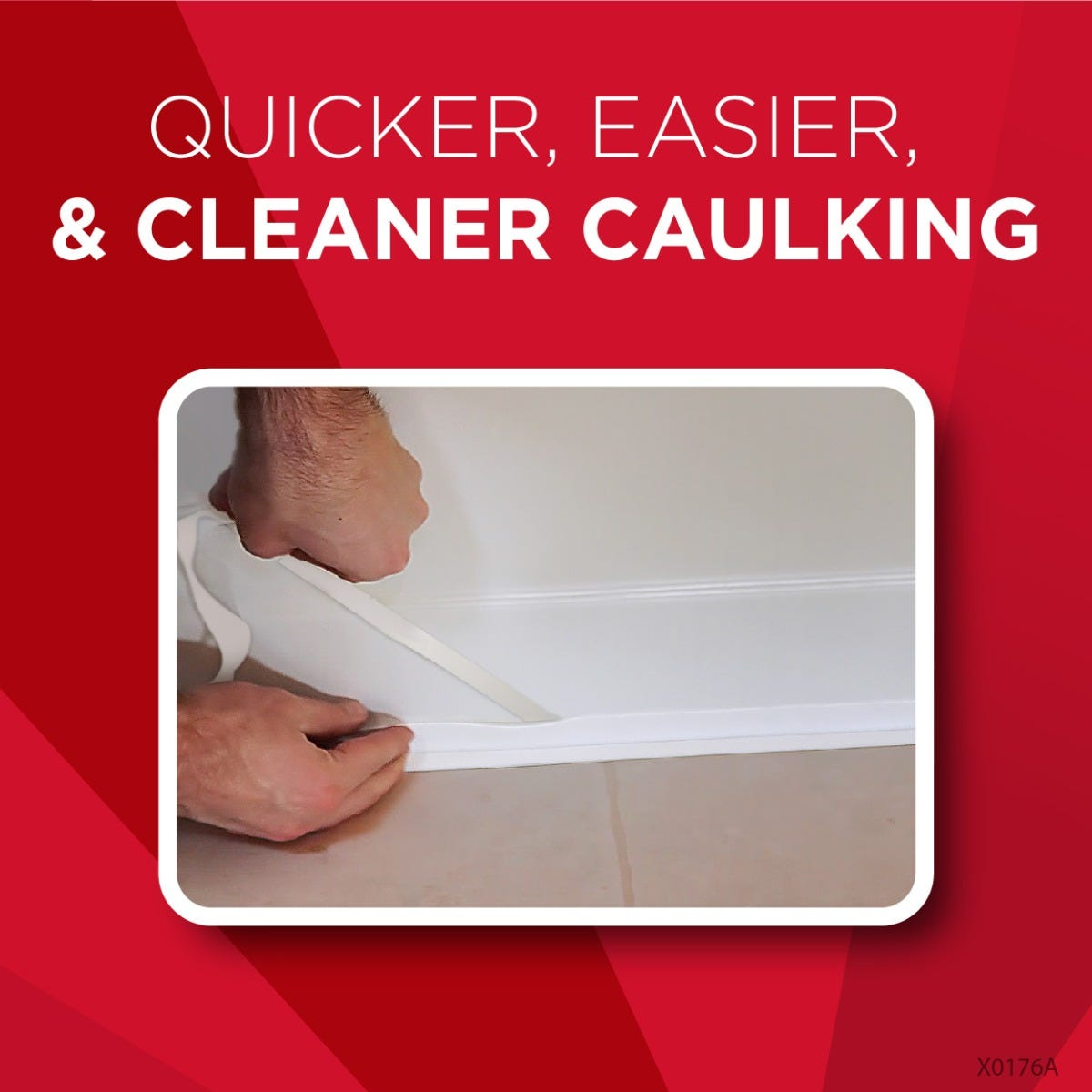 Peel & Stick Caulk in use