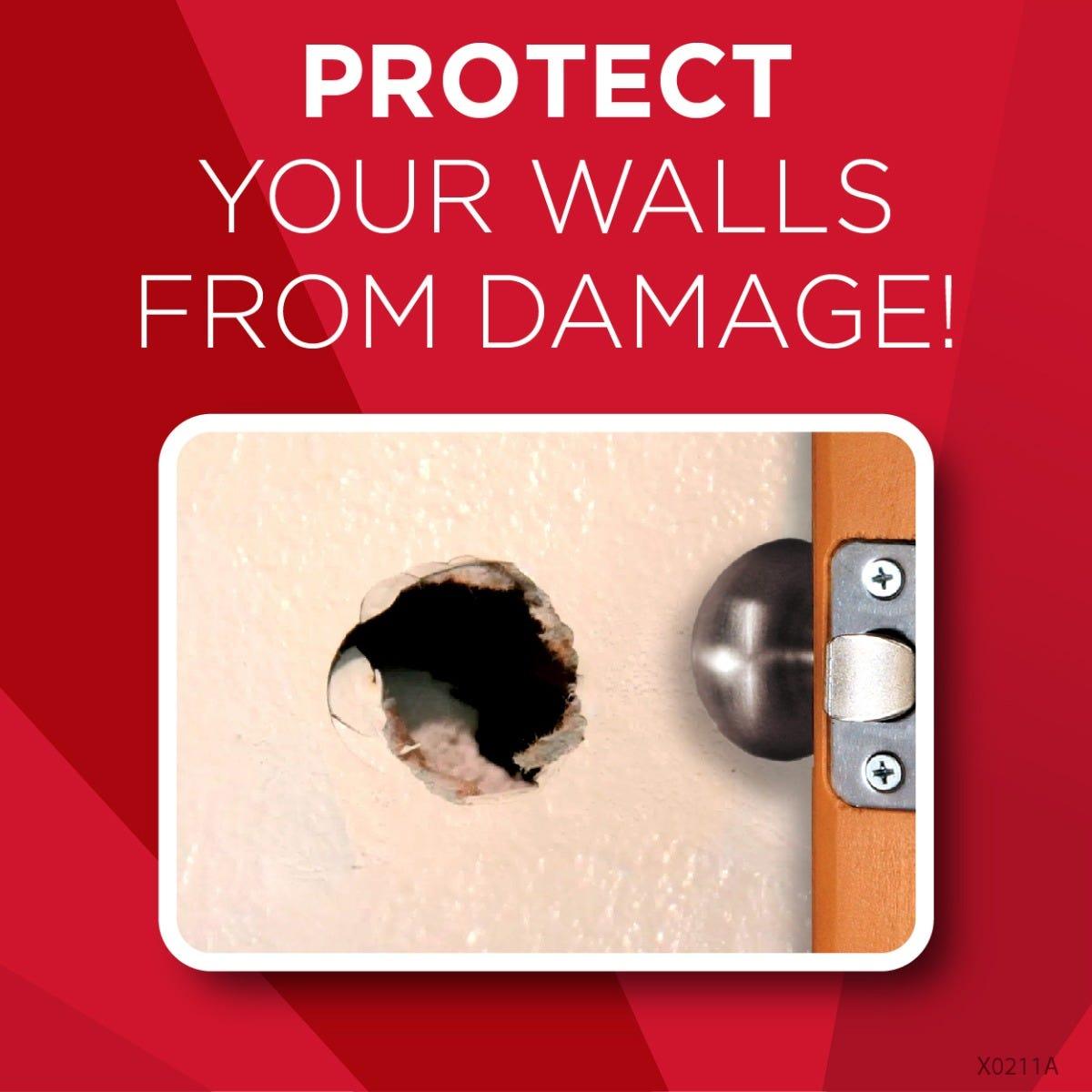 Protect walls from door knob damage