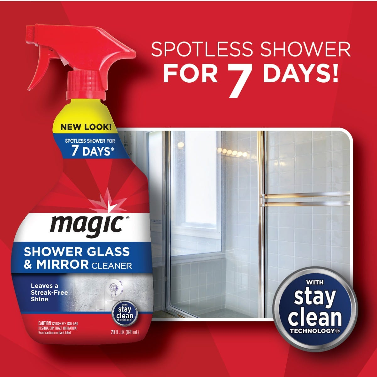 Shower Glass Cleaner 7 days of effectiveness