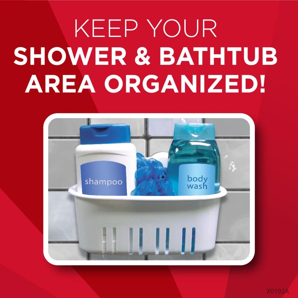 Shower basket in use