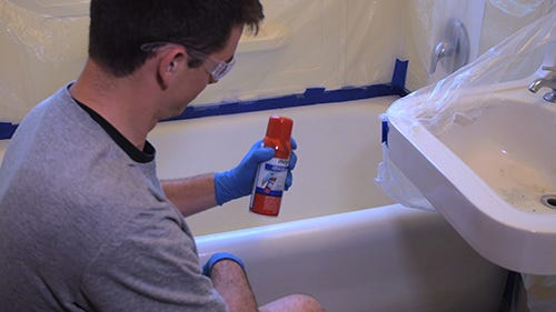 How to Refinish Your Tub - Spray-on Kit